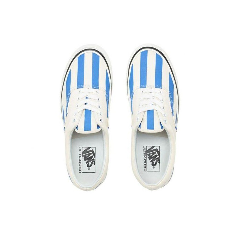 (Anaheim Factory) Og White/Og Blue/Big Stripes - Era 95 DX OG White/Blue Sale Shoes by Vans