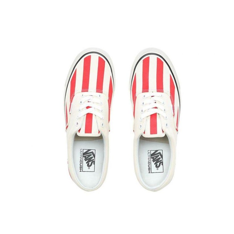 (Anaheim Factory) Og White/Og Red/Big Stripes - Era 95 DX OG White/Red Sale Shoes by Vans