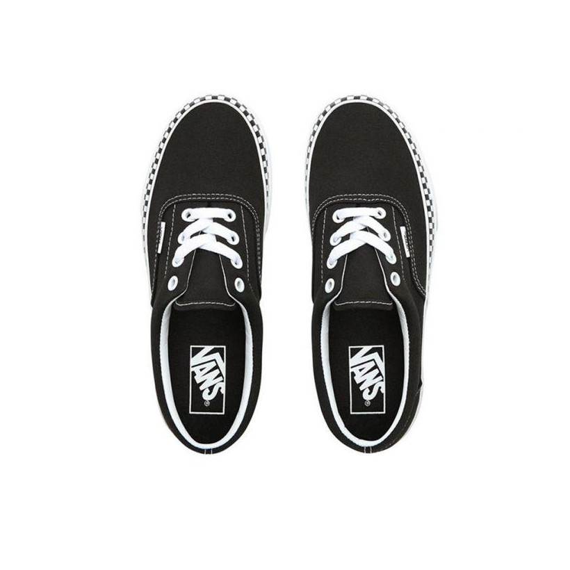 (Check Foxing) Black/True White - Era Check Foxing Black Sale Shoes by Vans