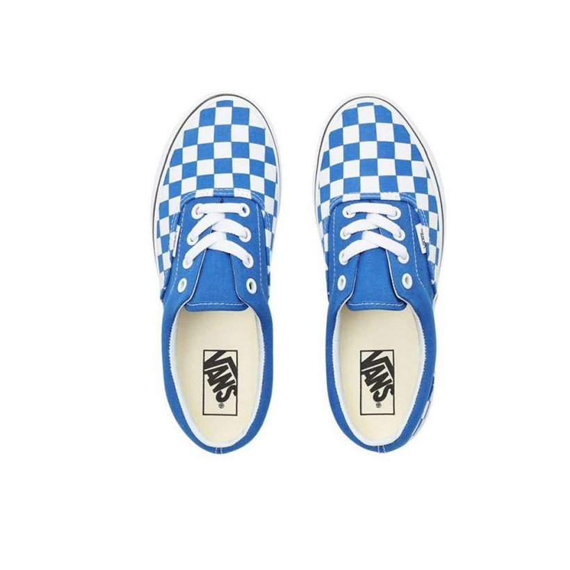 (Checkerboard) Lapis Blue/True White - Era Checkerboard Blue/White Sale Shoes by Vans