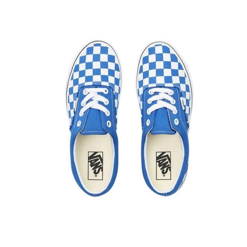 (Checkerboard) Lapis Blue/True White - Era Checkerboard Blue/White Sale Shoes by Vans