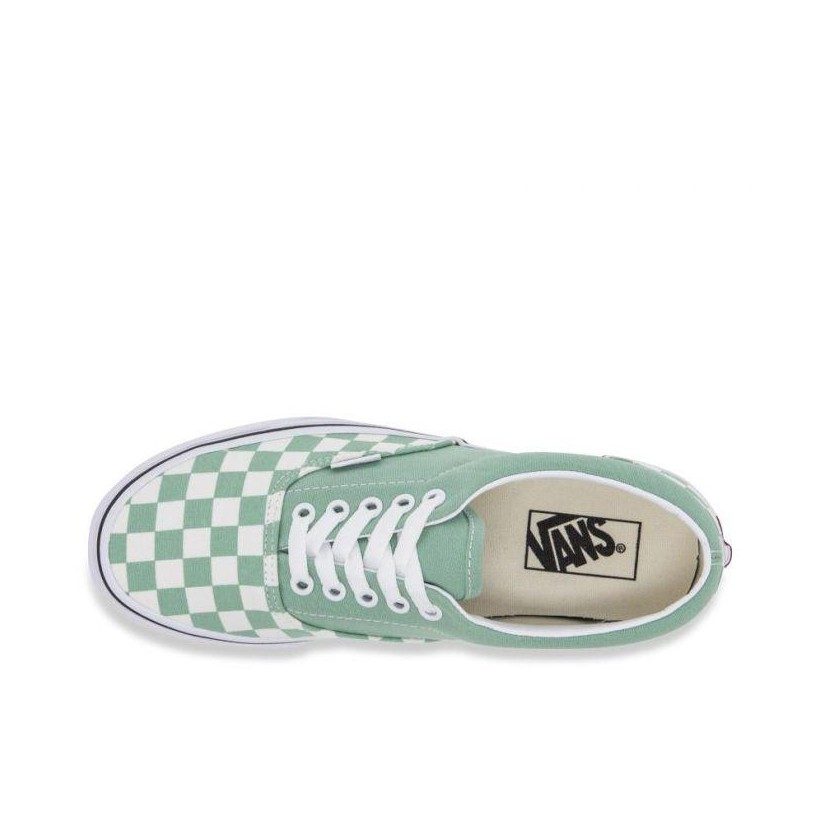 (Checkerboard) Neptune Green/True White - Era Checkerboard Neptune Green/True White Sale Shoes by Vans