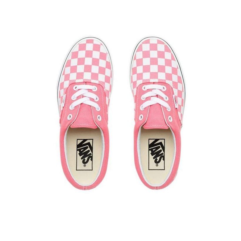 Strawberry Pink/True White - Era Checkerboard Strawberry Pink/True White Sale Shoes by Vans