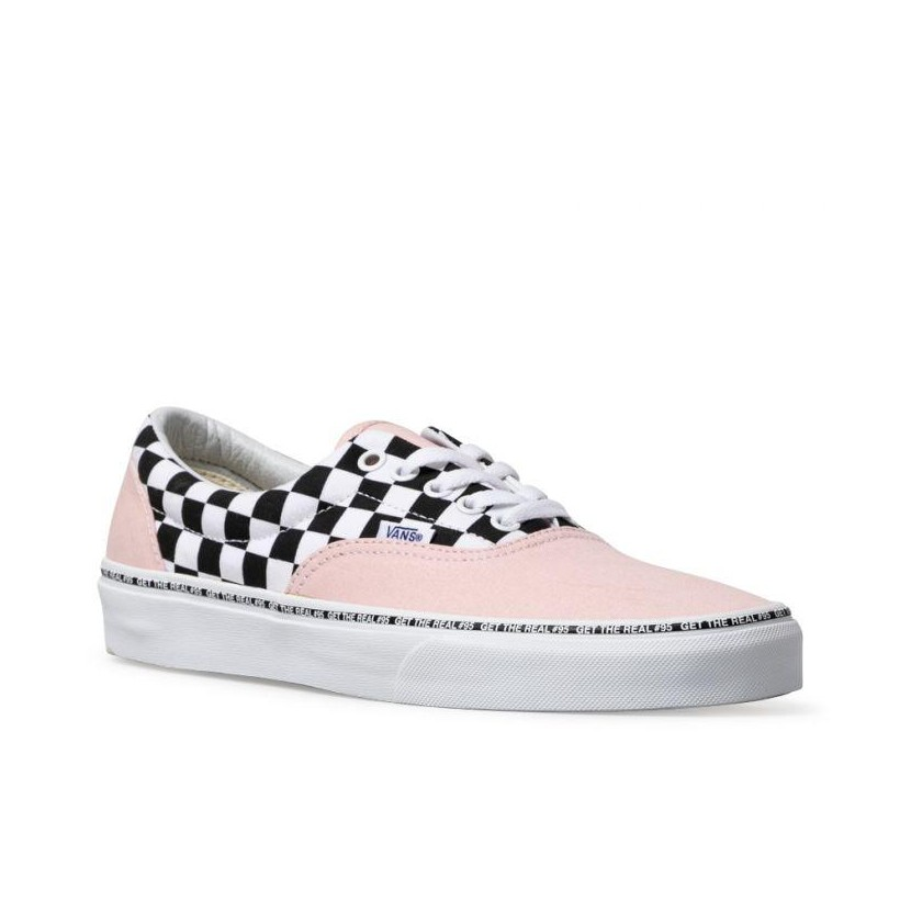 (Get The Real #95) Strawberry Cream/Checkerboard - Era Get The Real 95 Strawberry  Check Sale Shoes by Vans