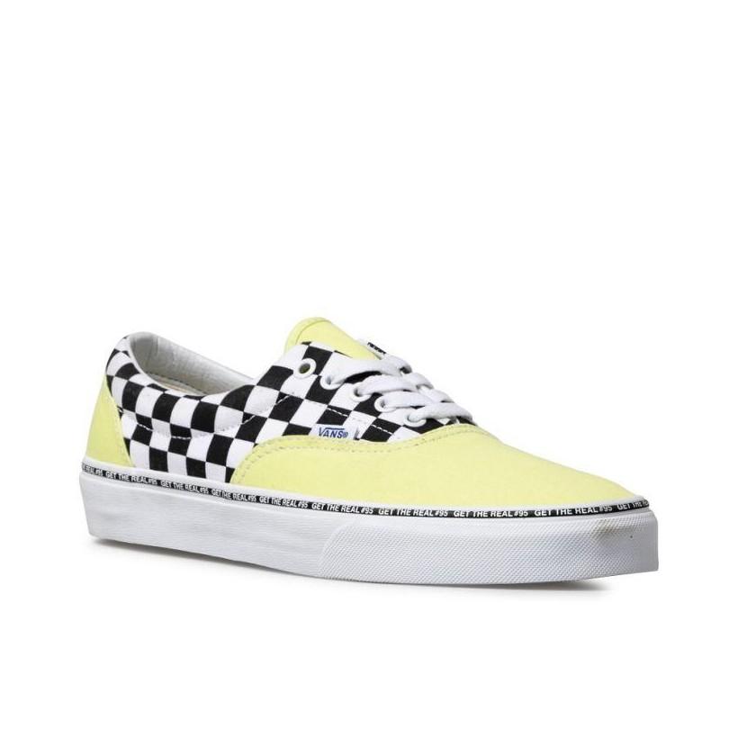 (Get The Real #95) Blazing Yellow/Checkerboard - Era Get The Real 95 Yellow Check Sale Shoes by Vans