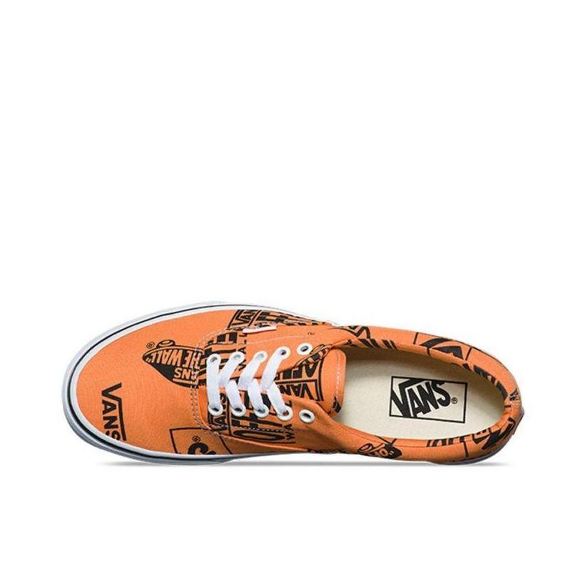 (Logo Mix) Tangerine/Black - Era Logo Mix Sale Shoes by Vans