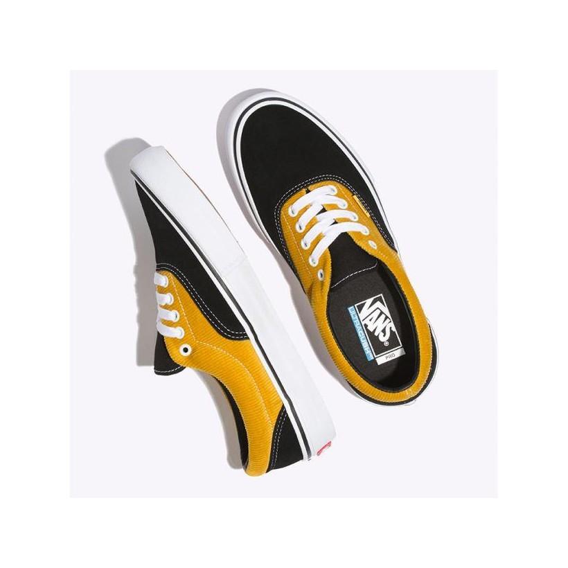 (Corduroy) Black/Yolk Yellow - Era Pro Corduroy Black Sale Shoes by Vans