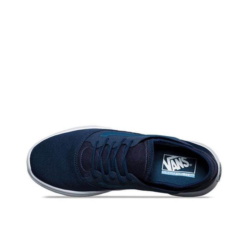 (Mesh) Dress Blues/True White - ISO Route Sale Shoes by Vans