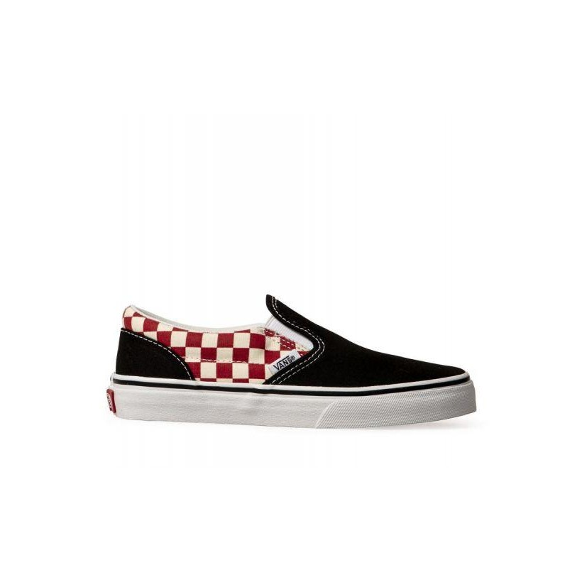 Checkerboard) Black Red - Kids Checkerboard Slip On Sale by Vans ... 7a88a8897