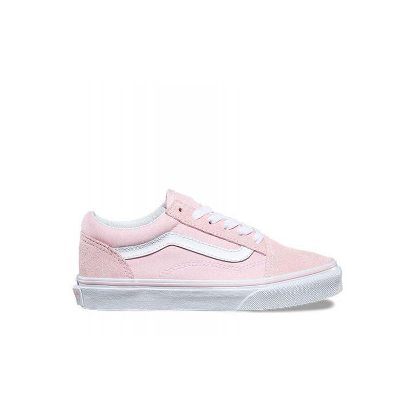5479d68f28 Suede Canvas) Chalk Pink True White - Kids Old Skool Sale by Vans ...