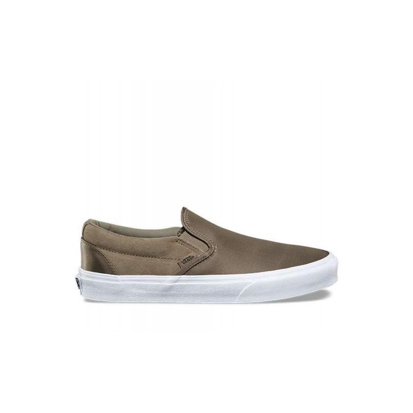 4421e19459 (Surplus Nylon) Dusky Green - Nylon Surplus Classic Slip-On Sale Shoes by  Vans