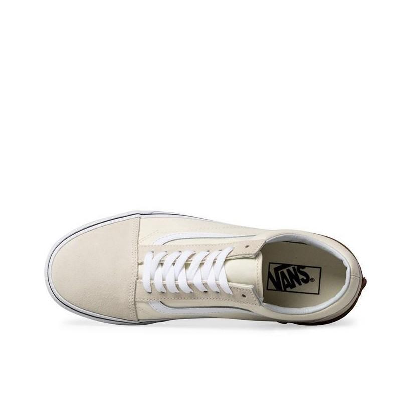 (Gum Block) Classic White - Old Skool Gum Block Sale Shoes by Vans
