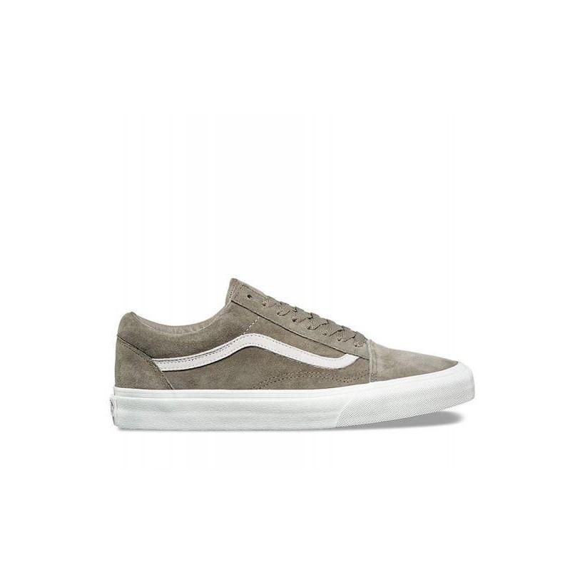 (Pig Suede) Fallen Rock/Blanc De Blanc - Pig Suede Old Skool Sale Shoes by Vans