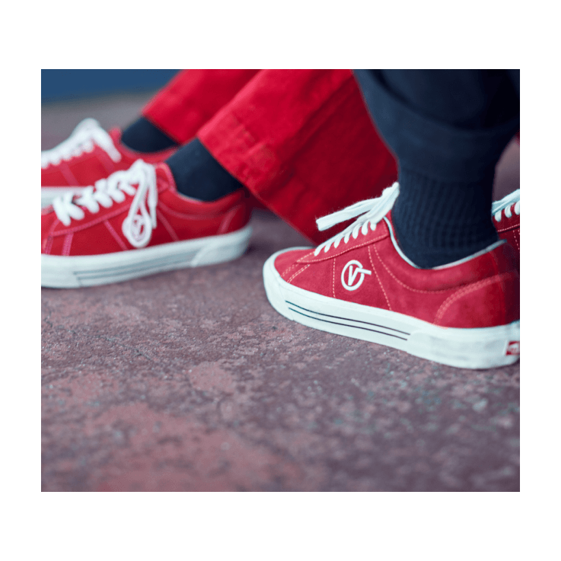 (Anaheim Factory) Og Red/Suede - SID DX ANAHEIM OG RED Sale Shoes by Vans