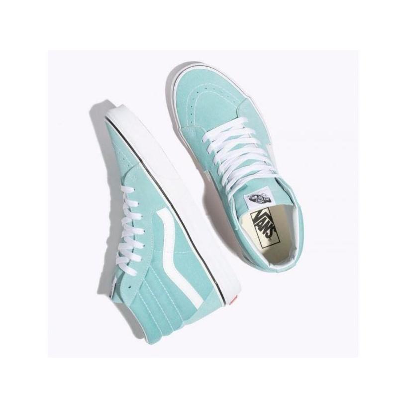 Aqua Haze/True White - Sk8-Hi Aqua Haze Sale Shoes by Vans