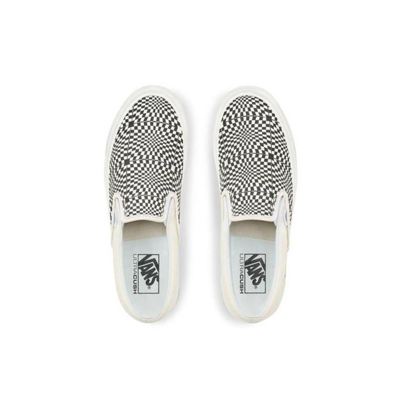 (Anaheim Factory) Og Black/White/Warp Check - Slip On 98 DX OG Black/White Sale Shoes by Vans