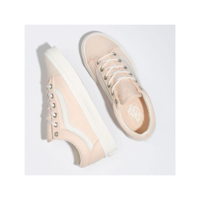 (Brushed Twill) Vanilla Cream/Snow White - Style 36 Brush Twill Vanilla Cream Sale Shoes by Vans