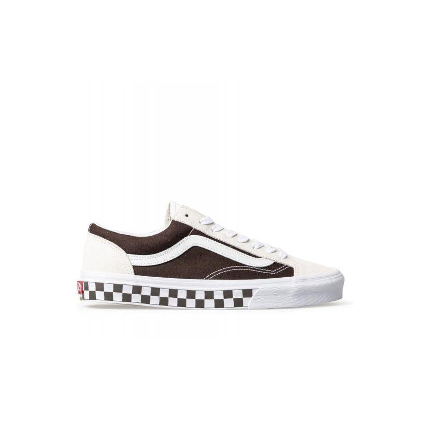 (Bmx Checkerboard) White/Demitasse - Style 36 Chocolate Sale Shoes by Vans