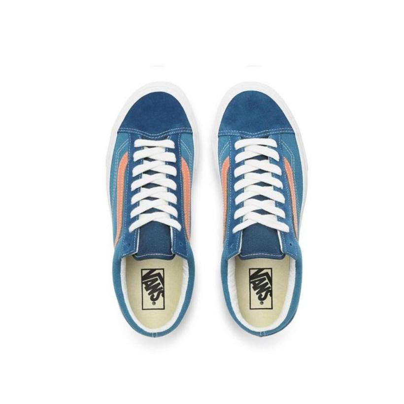 (Vintage Sport) Sailor Blue/Blanc De Blanc - Style 36 Vintage Sport Sailor Blue Sale Shoes by Vans
