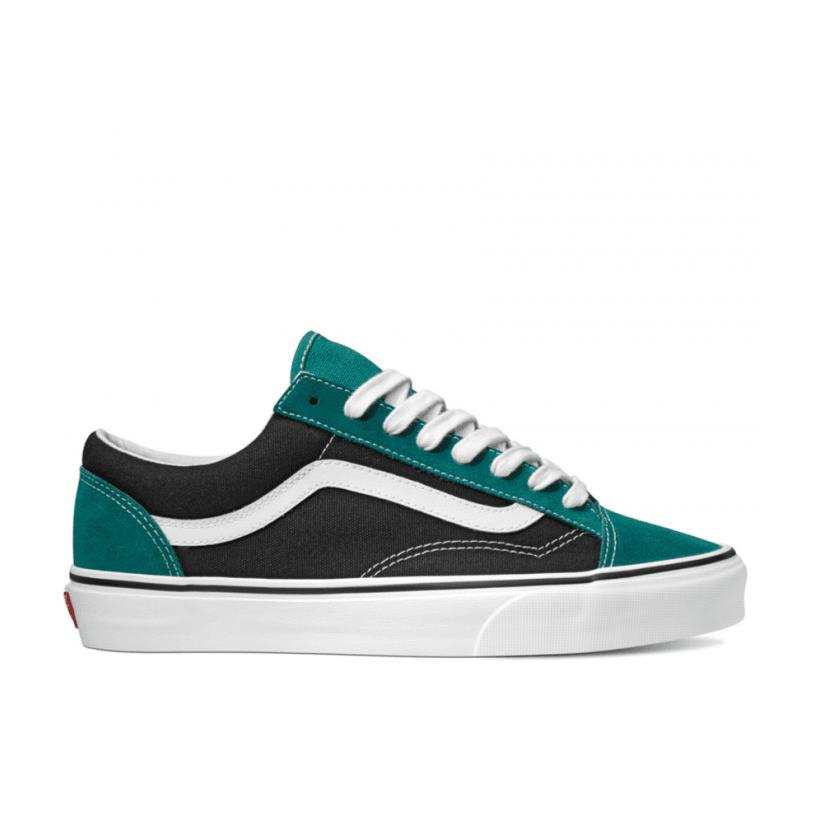 (Vintage Suede) Tidepool/Black - STYLE 36 VINTAGE SUEDE TIDEPOOL Sale Shoes by Vans