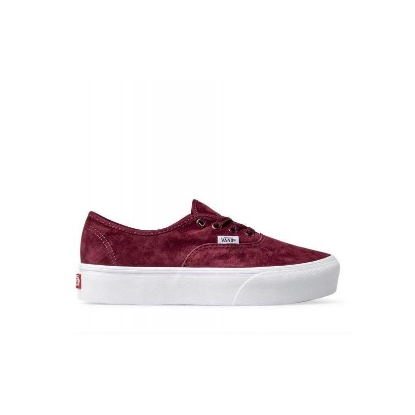 (Pig Suede) Port Royale/True White - Suede Authentic Platform 2.0 Sale Shoes by Vans
