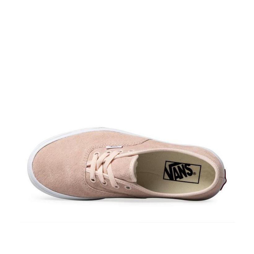 (Pig Suede) Pale Dogwood/True White - Suede Authentic Platform 2.0 Sale Shoes by Vans