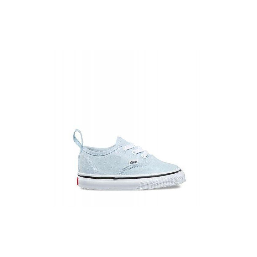Baby Blue/True White - Toddler Authentic Elastic Lace Sale Shoes by Vans