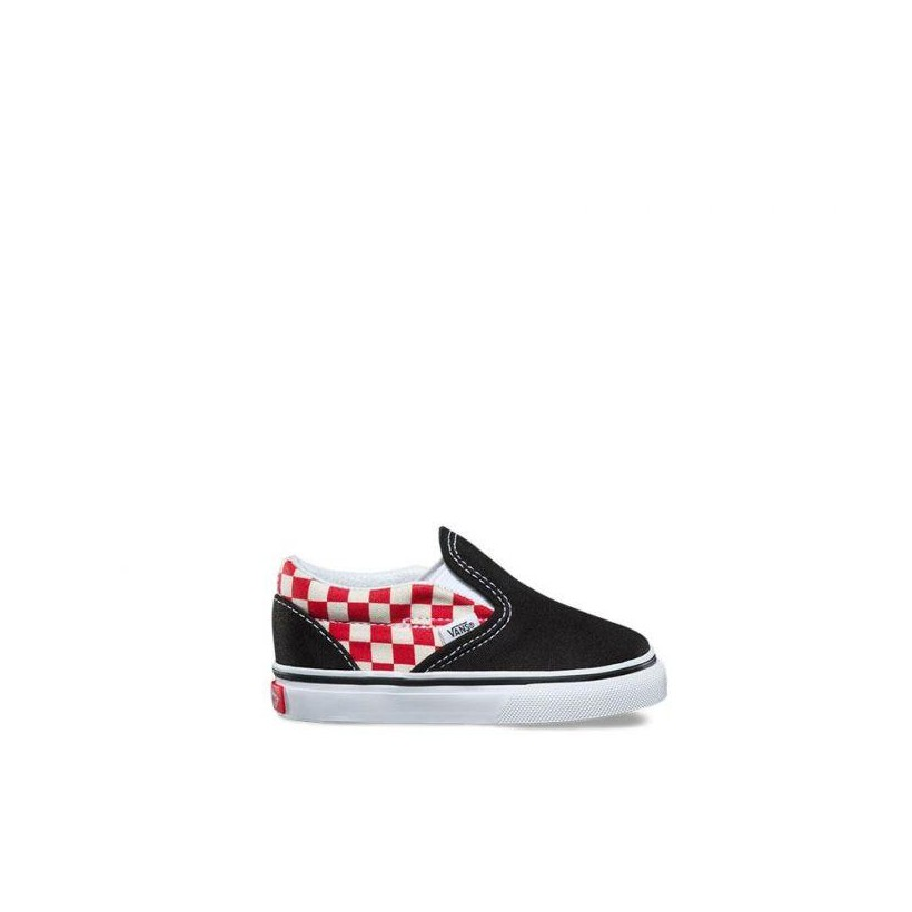 87a6b07a08 (Checkerboard) Black/Red - Toddler Checkerboard Slip On Sale Shoes by Vans