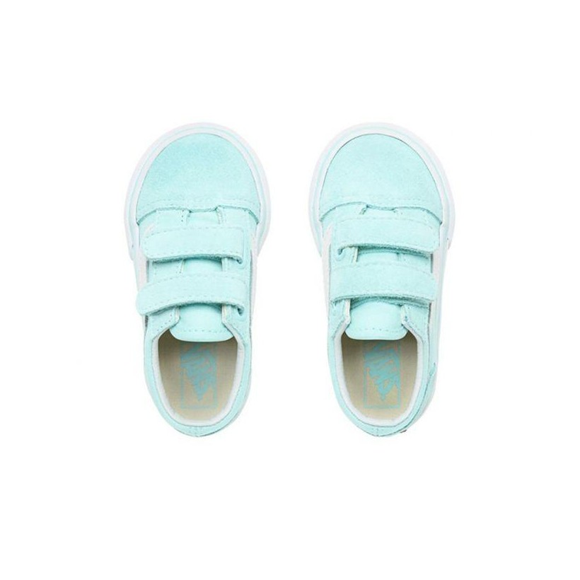 Blue Tint/True White - Toddler Old Skool Velcro Tint/True White Sale Shoes by Vans