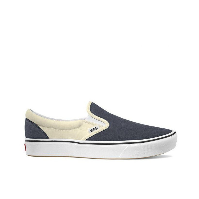 (Two Tone) Ebony/Classic White - COMFYCUSH SLIP-ON Sale Shoes by Vans