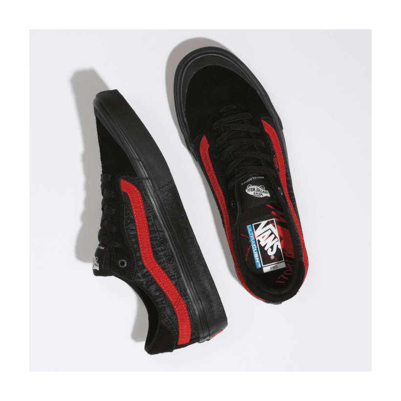 (Baker) Black/Black/Red - VANS X BAKER 112 PRO Sale Shoes by Vans