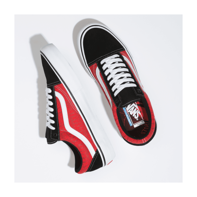 (Baker) Black/White/Red - VANS X BAKER OLD SKOOL PRO Sale Shoes by Vans