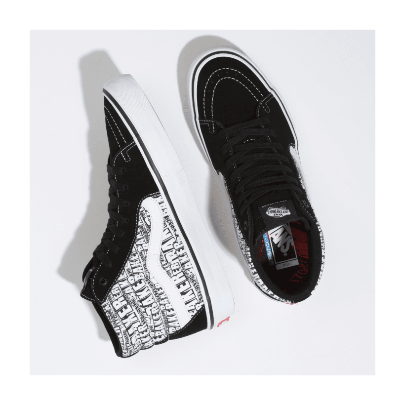 (Baker) Black/White - VANS X BAKER SK8-HI PRO Sale Shoes by Vans