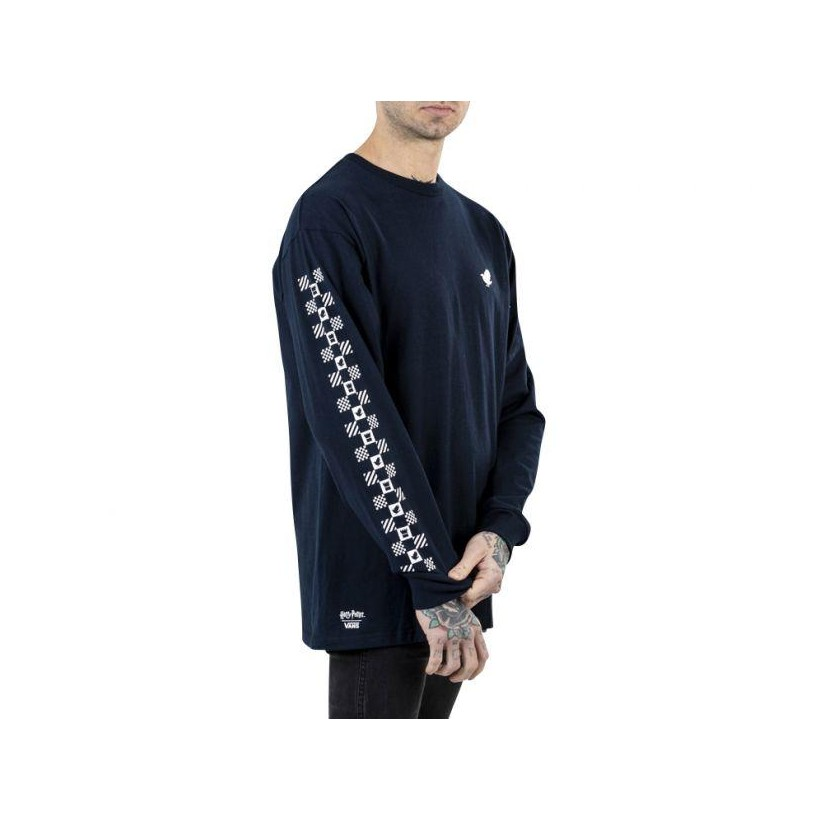 Navy - Vans X Harry Potter Ravenclaw Navy Long Sleeve Tee Sale Shoes by Vans