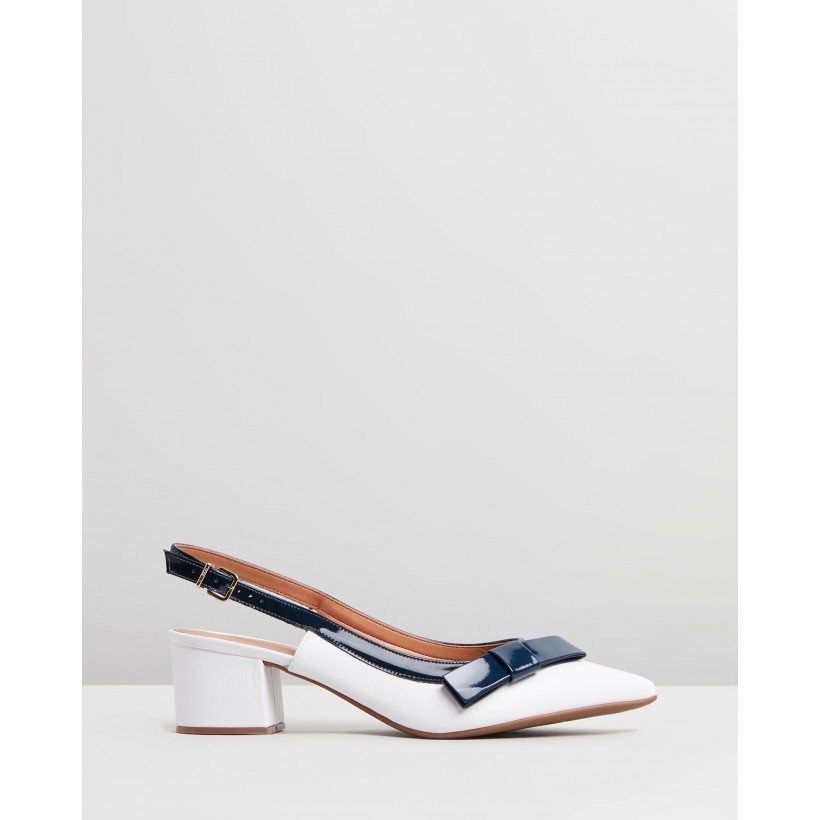 Sabrina White & Navy by Vizzano