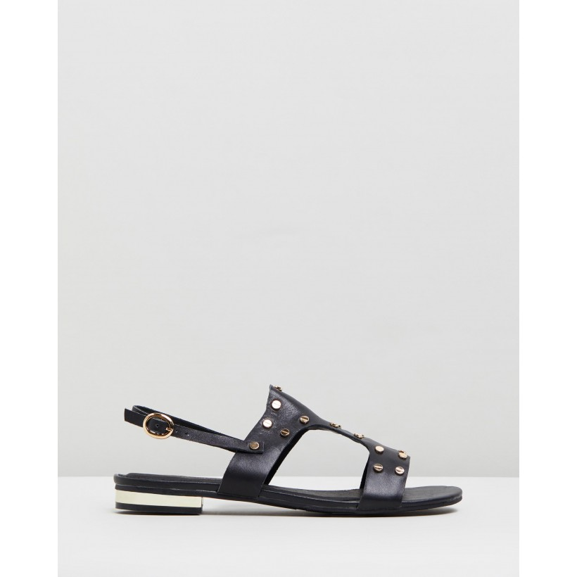 Sangria Stud Sandals Black by Walnut Melbourne