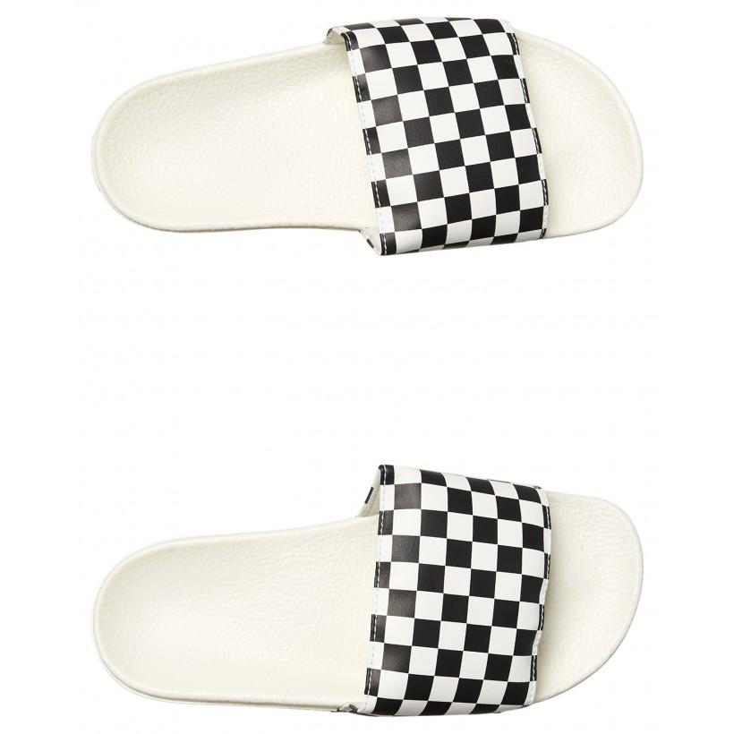 Womens Slide On Shoe White Black By VANS