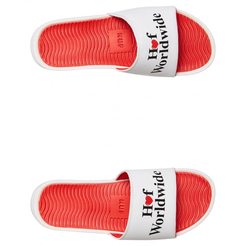Huf Love Slide White