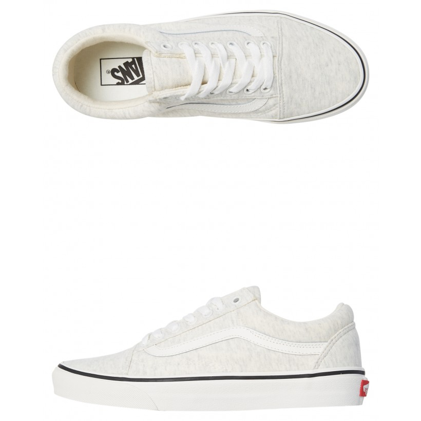 Womens Old Skool Shoe White White By VANS
