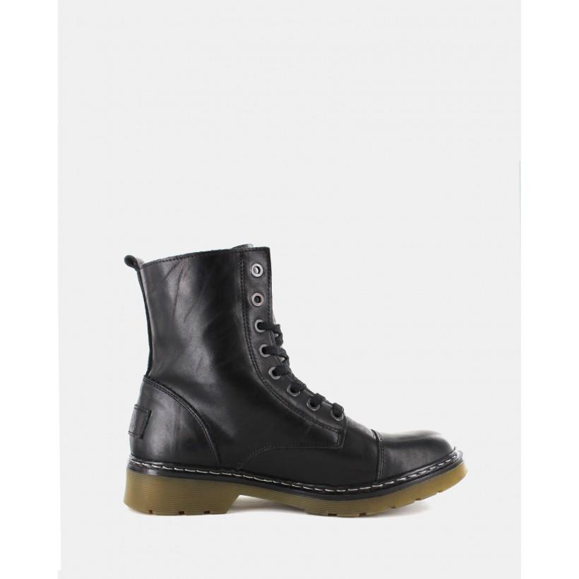 Bronx Boots Black by Wild Rhino