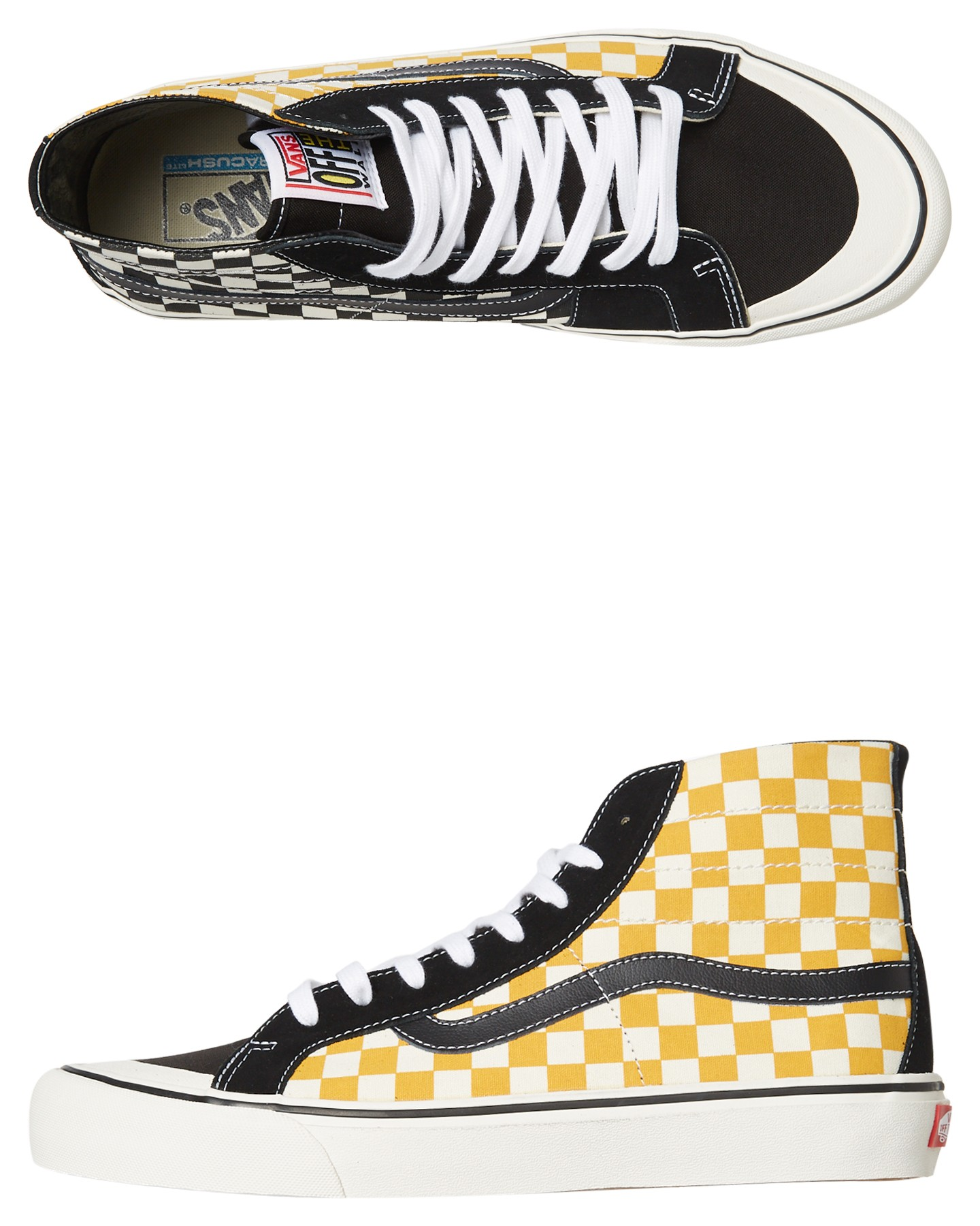 acc69baf5b Black Sunflower Coloured Sk8 Hi 138 Decon Sf Surf Check Shoe Black  Sunflower By VANS