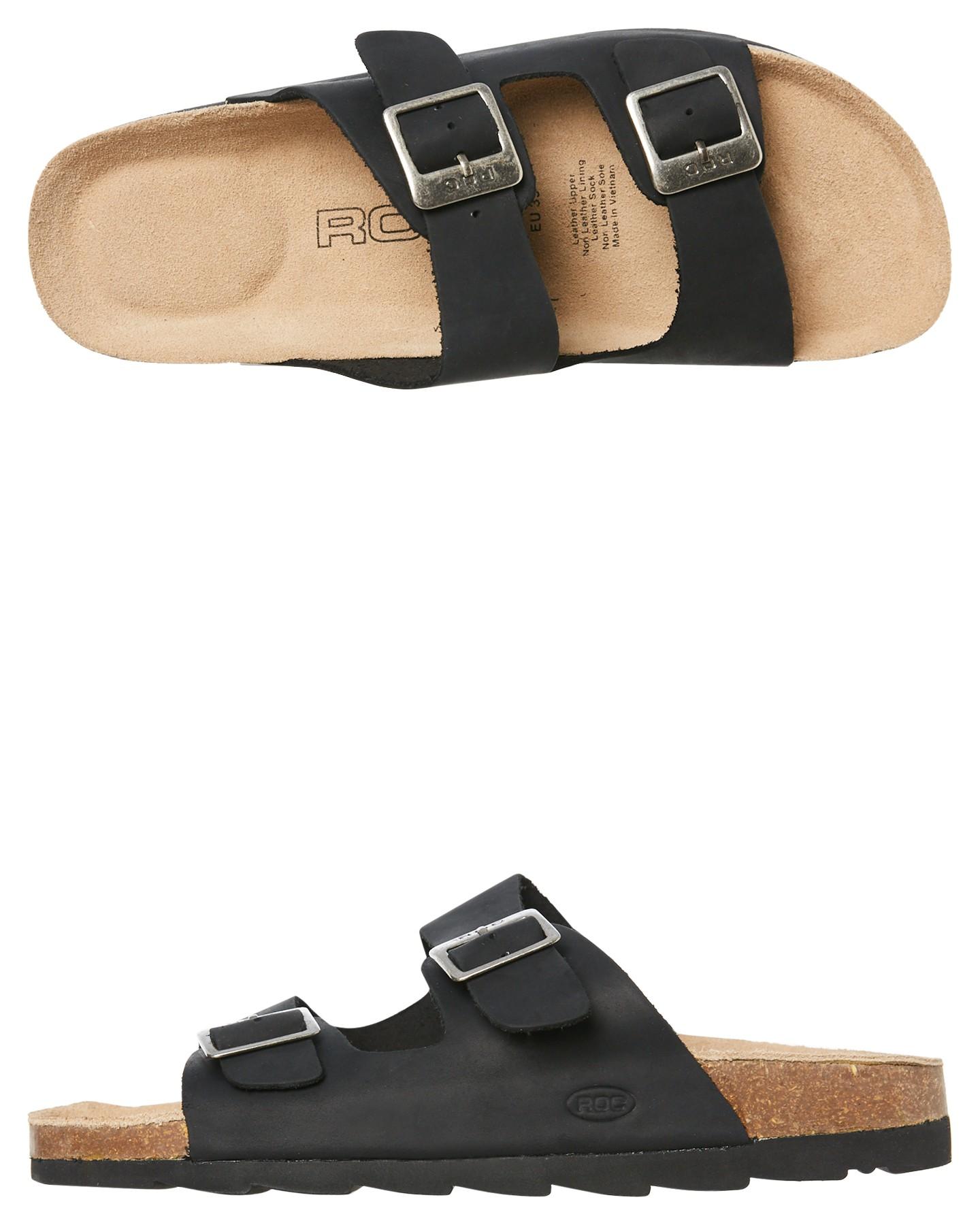 c142db4c937 Black Coloured Womens Bermuda Sandal Black By ROC BOOTS AUSTRALIA |  ShoeSales