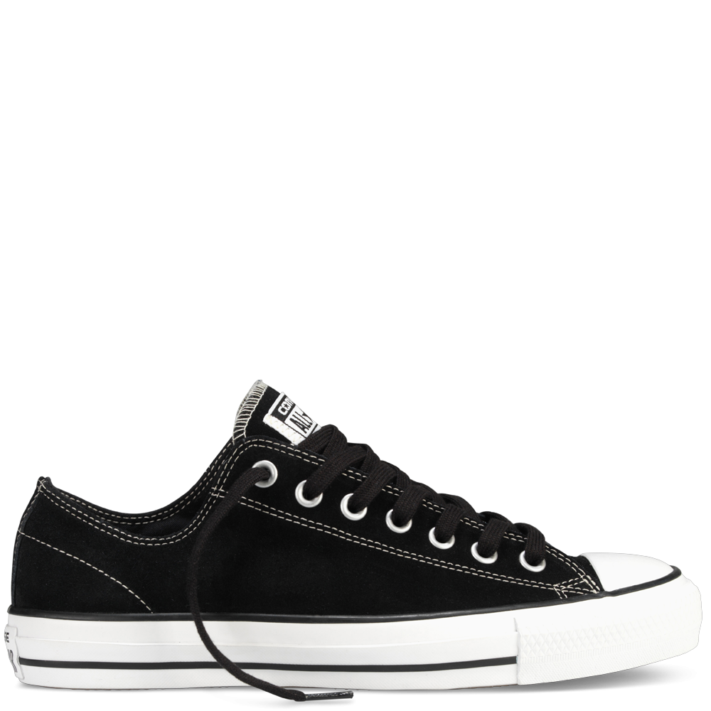 d881a60680b9 Black White CONS CTAS Pro Suede Low Top Black Mens Shoes Sneakers ...