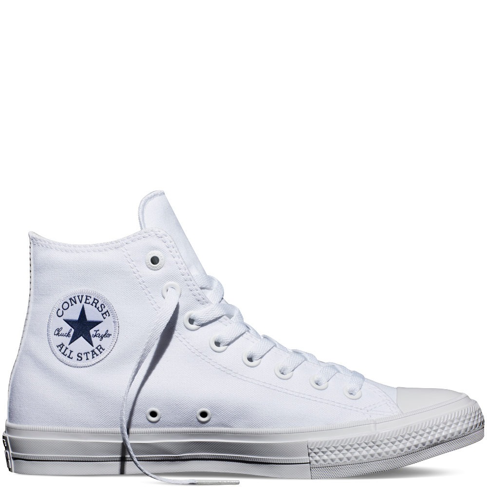 c665302cb3b50 White White Navy Chuck Taylor All Star II High Top White Womens Shoes  Sneakers
