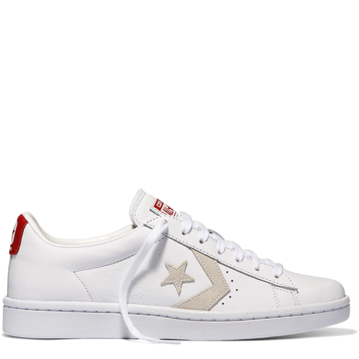 wholesale dealer c0792 eb10d White White Varsity Red Pro Leather Low Top White-Varsity Red Womens Shoes  Sneakers   ShoeSales