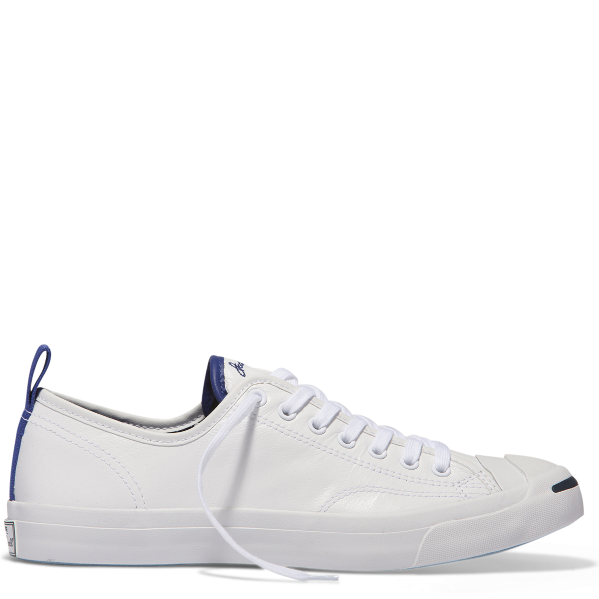 2b16aa3217a6 White White True Indigo Jack Purcell Tumbled Leather Low Top White-True  Indigo Womens Shoes Sneakers