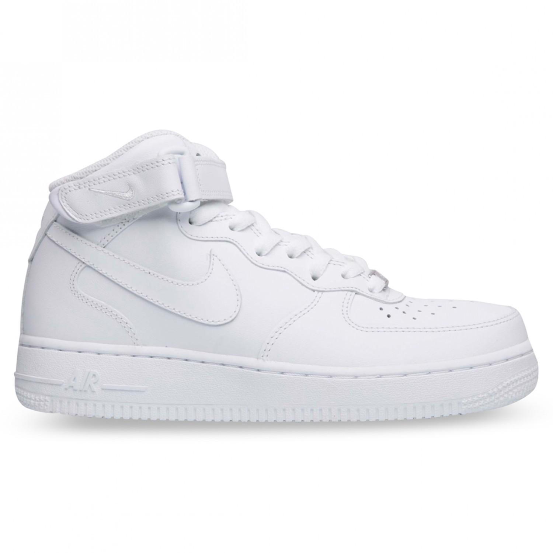 White/White Nike AIR FORCE 1 MID WOMENS