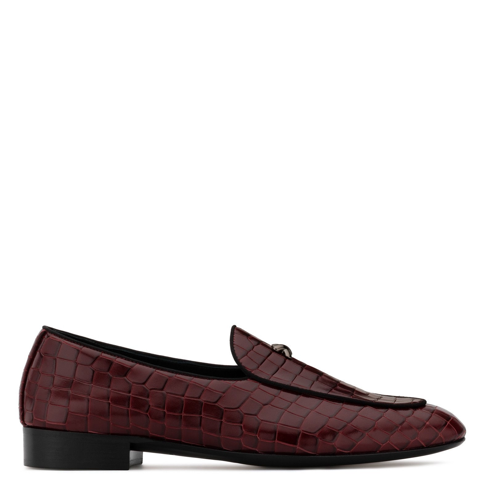 a45c216d4ae42 Giuseppe Zanotti Red Crocodile-embossed leather loafer | ShoeSales