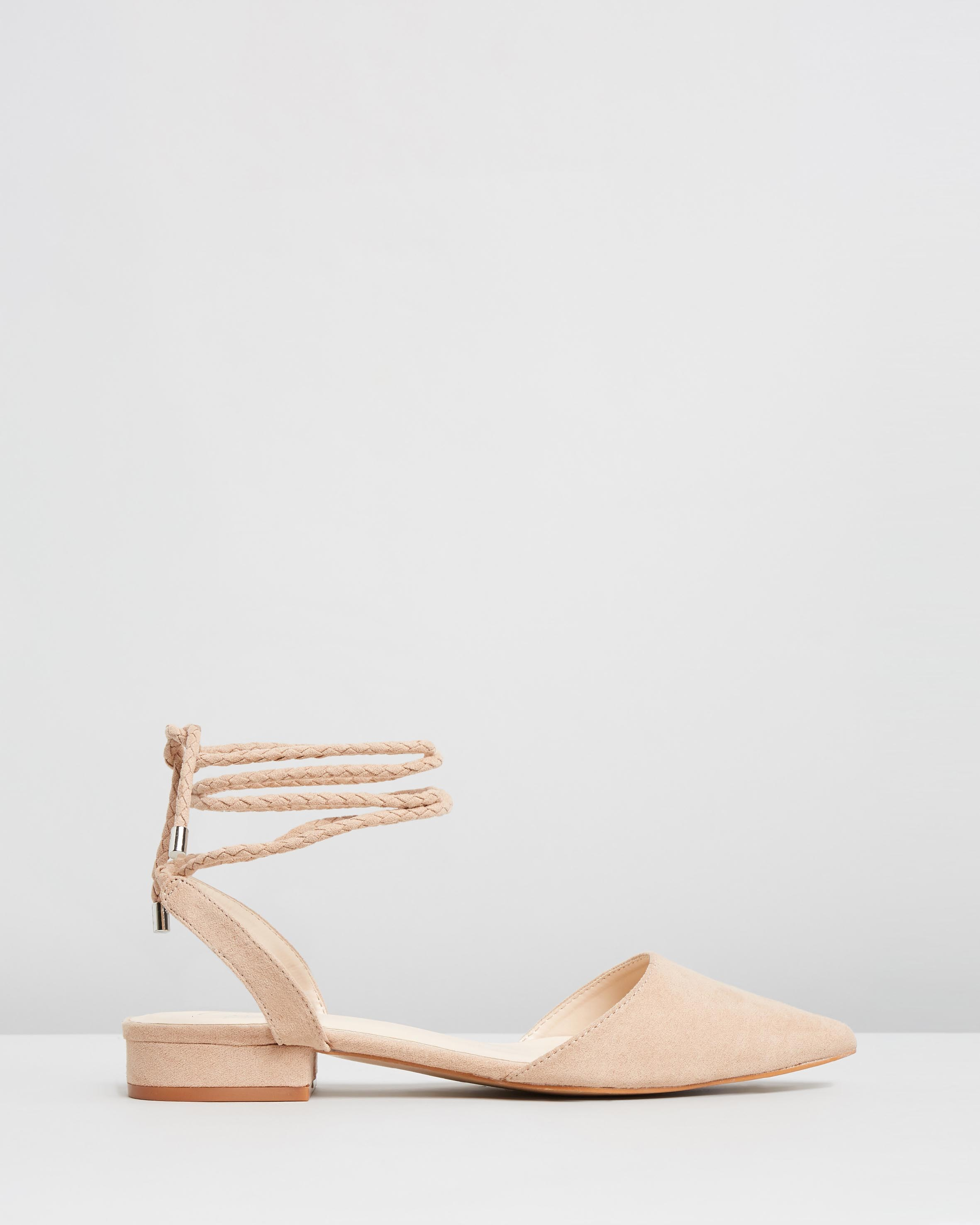 Charles David Womens Latrice Nude MicroSuede Sandals Size