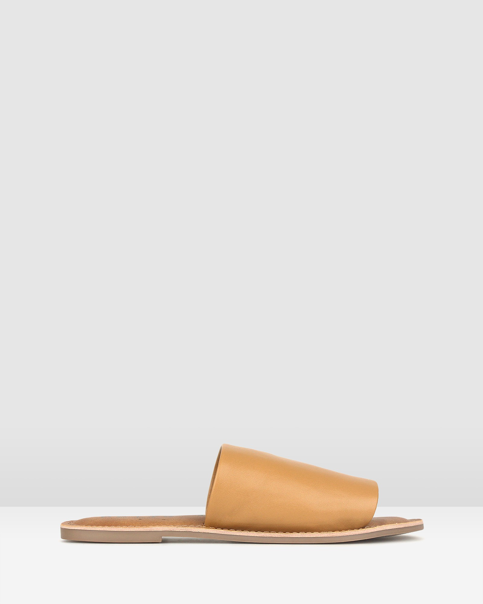 Maui Slip On Leather Sandals Tan by